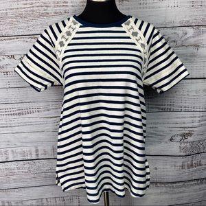 OLD NAVY MATERNITY Navy Blue & White Striped Tunic